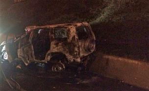 הרכב לאחר התאונה (צילום: משטרת התנועה)
