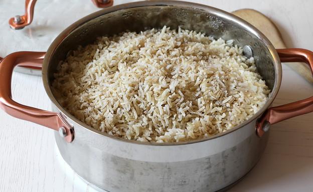 אורז מלא - אחרי בישול (צילום: נטע-חן ליבנה, אוכל טוב)