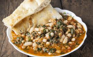 תבשיל שעועית עם תרד  (צילום: אפיק גבאי, מאסטר שף)