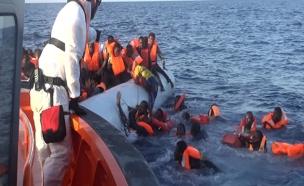 מסע הפליטים לאירופה (צילום: חדשות 2)