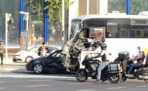 טרם ברור מה גרם לנהג לאבד שליטה (צילום: נמרוד ועקנין)
