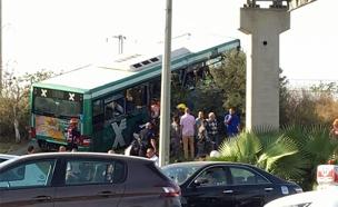 תיעוד השניות שלאחר התאונה (צילום: נמרוד ועקנין)
