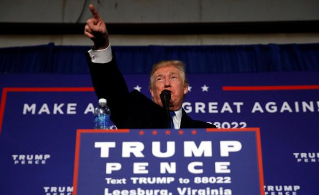 טראמפ במהלך הקמפיין (צילום: רויטרס)
