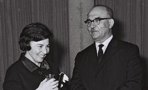 """מרים ולוי אשכול ז""""ל (צילום: משה פרידן, האוסף הלאומי)"""