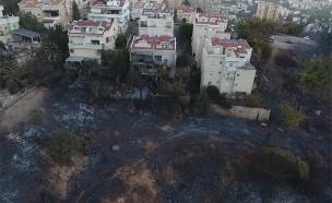 נזקי השריפה בחיפה