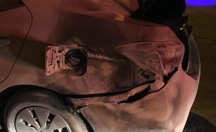 הרכב לאחר השריפה (צילום: כבאות צפון)