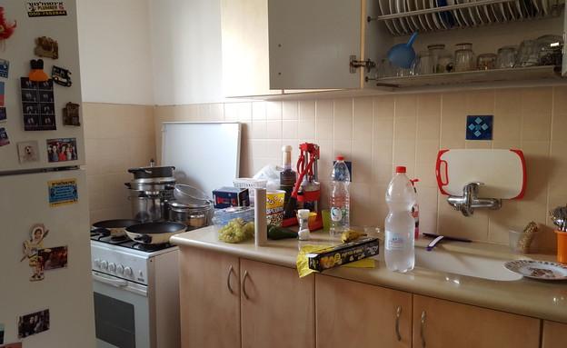 דלית לילינטל, המטבח לפני השיפוץ (צילום: צילום ביתי)