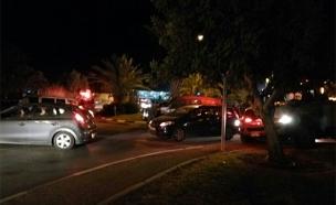 זירת התאונה הקטלנית, הערב (צילום: סוכנות תצפית / TPS)