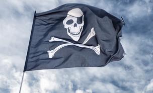 """דגל """"ג'ולי רוג'ר"""" של פיראטים (צילום: ShutterStock)"""