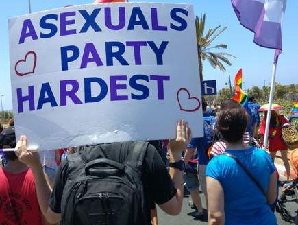 א-מיניים במצעד הגאווה (צילום: אוריה בן ברית)