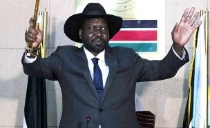 סאלווה קיר מאיארדיט נשיא דרום סודאן (צילום: חדשות 2)