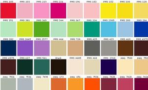 פלטת צבעים של פנטון