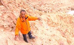 איזור האסון בטיול בנחל צאלים (צילום: חדשות 2)
