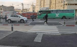 המדרכה לאחר ההנגשה (צילום: דוברות משרד המשפטים)