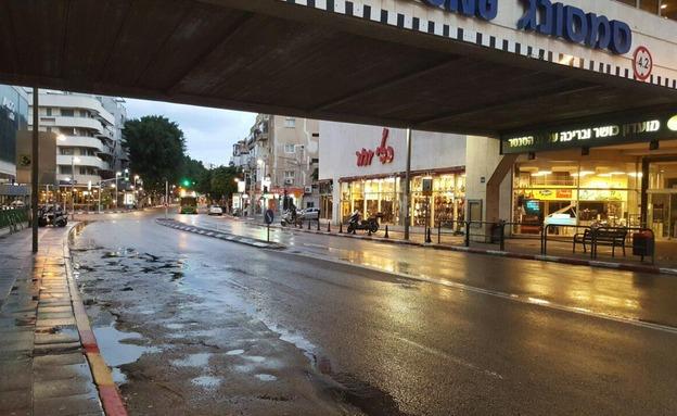 תל אביב, הבוקר (צילום: חדשות 2)