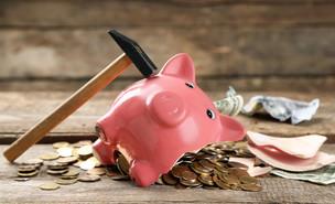 קופת חזיר שבורה (צילום: Shutterstock, מעריב לנוער)