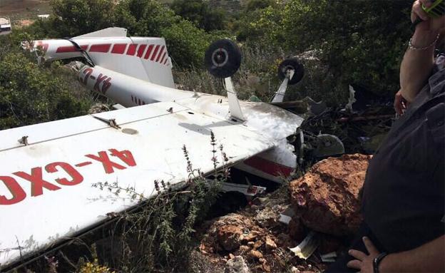 המטוס שהתרסק בכמון. ארכיון (צילום: מבצעי SOS)