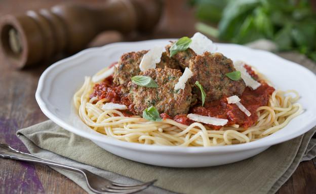 ספגטי עם קציצות עיג'ה (צילום: דרור עינב, אוכל טוב)