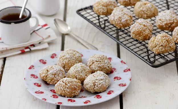 עוגיות טחינה טבעוניות (צילום: נטלי לוין, אוכל טוב)
