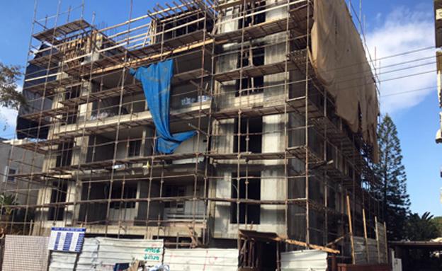 הבניין בו מתבצעות העבודות בנתניה
