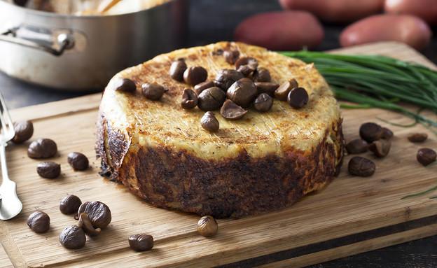 עוגת תפוחי אדמה וערמונים (צילום: אפיק גבאי, אוכל טוב)