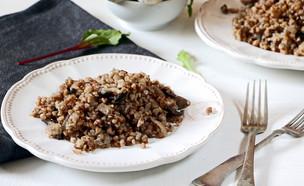 כוסמת - תבשיל פטריות (צילום: נטע-חן ליבנה, אוכל טוב)