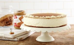 עוגת לוטוס, גבינה ושוקולד לבן (צילום: דניה ויינר, אוכל טוב)