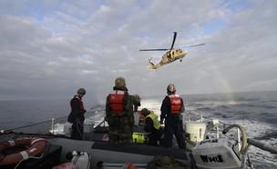 """שיתוף פעולה בין חיל האוויר לחיל הים (צילום: דובר צה""""ל, באדיבות גרעיני החיילים)"""