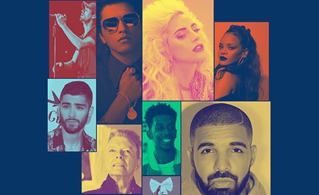 סיכום 2016 - מוזיקה (צילום: סטודיו mako, getty images)