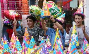 יום הולדת, חגיגה, בלונים, ילדים (צילום: חדשות 2)