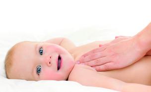 עיסוי תינוקןת - בטן
