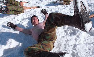 חייל בשלג (צילום: Chung Sung-Jun, GettyImages IL)