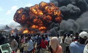 """אתר הפצצה בסומליה ממל""""ט אמריקאי"""