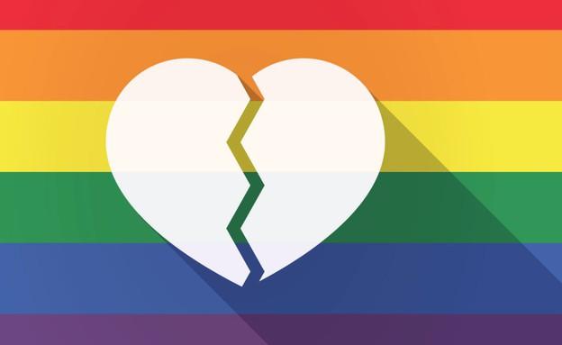 דגל גאווה לב שבור (צילום: ShutterStock)