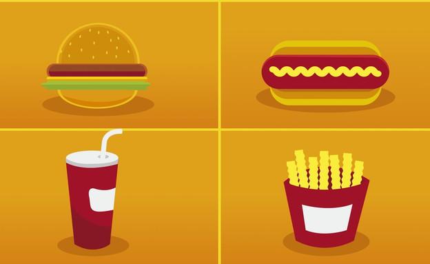 איור מזון מהיר (איור: Shutterstock)