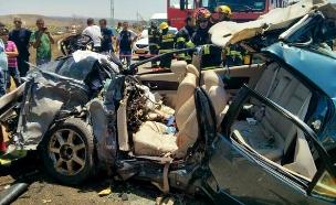 תאונת דרכים. ארכיון (צילום: כבאות צפון)