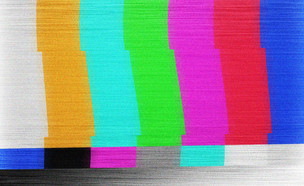 מסך תקלה או בדיקה בטלוויזיה (צילום: ShutterStock)