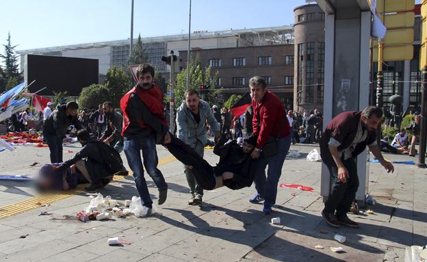 פיגוע באנקרה טורקיה (צילום: רויטרס)