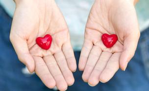 ידיים עם לב