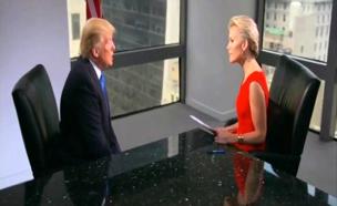 קלי מראיינת את הנשיא הנבחר טראמפ (צילום: Fox)
