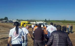 מנחת עין ורד התרסקות מטוס קל (צילום: חדשות 2)