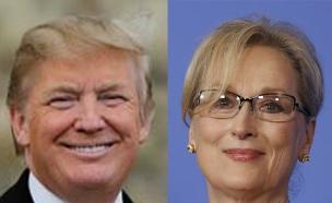 טראמפ VS סטריפ (צילום: רויטרס חדשות 2)