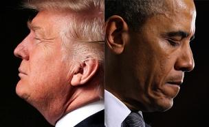 הנשיא היוצא והנכנס. מי טוב יותר לישראל? (צילום: רויטרס)