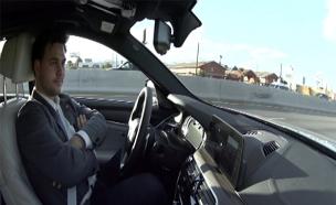 צפו: נסיעת מבחן במכונית האוטונומית (צילום: חדשות 2)