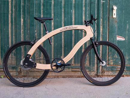 אופניים מעץ בעיצוב aceteam (צילום: Matthias Broda, aceteam)