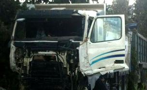 תאונה קטלנית בנשר (צילום: חדשות 2)