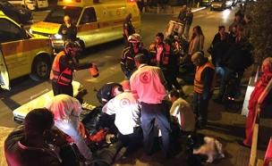 """הולכת רגל נהרגה בגבעתיים (צילום: תיעוד מבצעי מד""""א)"""