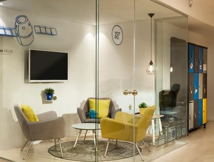 משרדים08, חדרי הישיבות מופרדים בעזרת מחיצות זכוכית