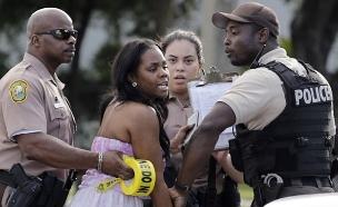 זירת האירוע, מיאמי (צילום: CNN)