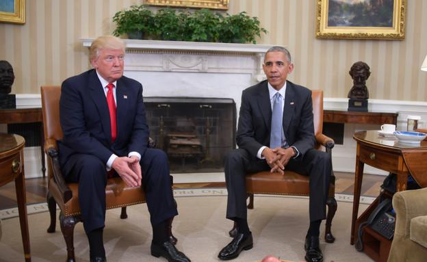 פגישת אובמה וטראמפ בבית הלבן (צילום: AFP, Getty images)